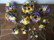 wedding flowers bouquets bridal package  lavenders 6 bouquets dbl for reception