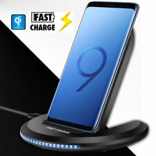 For Samsung Galaxy S9 / Plus Wireless Qi Fast Charger Charging Stand Dock Pad UK