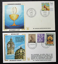 Vatican limited edition series set of 2 Illustrated Covers vaticano cartas h-8435