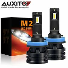 2x AUXITO H11 H8 9000LM LED Headlight Conversion Kit Low Beam 6000K Super White