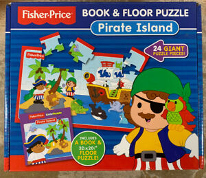 Fisher Price Pirate 24 Piece Floor Puzzle With Toddler Board Book Complete