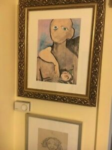 Australian Painting Joy Hester Beautiful Wood Framed Picture