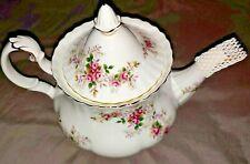ROYAL ALBERT Lavender Rose Mini Teapot Bone China Vintage