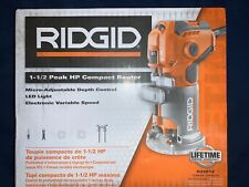 NEW RIDGID 5.5 Amp Corded Compact Fixed-Base Router MICRO ADJUST DIAL R24012