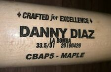 RED SOX DANNY DIAZ 2019 COOPERSTOWN COMPANY GAME USED PROSPECT BAT CRACKED RARE