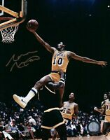 Norm Nixon Signed 8X10 Autograph Photo Lay-Up Gold Ink Lakers w/COA