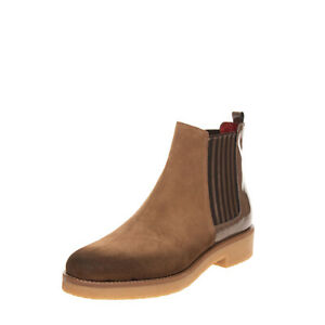 RRP€105 DONNA PIU Leather Chelsea Boots EU 41 UK 8 US 11 Worn Look Made in Italy