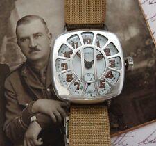WWI Sterling Patria Trench Watch w/ Shrapnel Guard Original Box, Tag - SERVICED