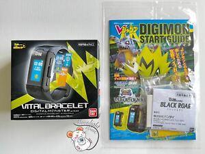 Digimon Vital Bracelet Black Digital Monster Black Roar Dim Card (US Sell)
