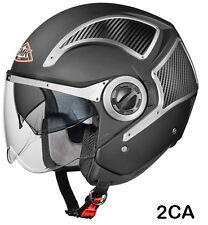 SMK Helmets - Phoenix - Hi Tech Black - Open Face Dual Visor Motorcycle Helmet
