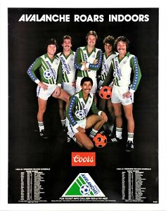"""DENVER AVALANCHE"" POSTER (1980) *COLORADO INDOOR SOCCER* Tickets Schedule COORS"