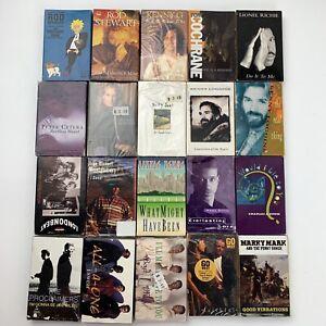 20 Cassette Tape Lot Single Male Vocals Pop Rock R&B Country