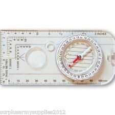 MILITARY MAP COMPASS MILS RULER SCALE ORIENTEERING BRITISH ARMY CADET SURVIVAL