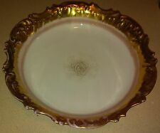 """LIMOGES Lewis Strauss & Sons - LS & S - 9 1/8"""" Heavy Gold Medallion Bowl"""