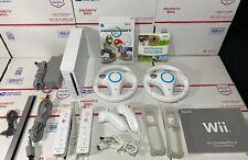 NR MINT🔥Nintendo Wii Console MARIO KART BUNDLE +Wheels+Wii Sports-100% WARRANTY