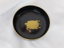 Excellent vintage Japanese black lacquerware bowl, ca. 1950