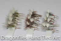 18 Dry Trout fishing Parachute Flies ,Adams,Blue Winged Olive & Iron Blue Dun