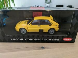 Kyosho 1/18 Lancia Delta Integrale HF GIALLA Yellow 08341Y