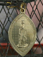 Large and rare Religious bronze Lourdes Pilgrimage Medal 1883 Miraculous Virgin