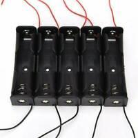 5PCS Plastic Battery Case Holder Storage Box for 1x 18650 Batteries 3.7V Black