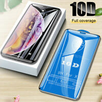 10D Curved Screen Protector Tempered Glass Film For iPhone X XS Max XR 7 8 Plus