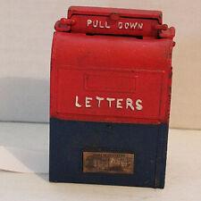 Vintage 1950's Cast Iron Mailbox Bank