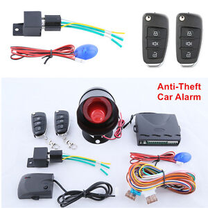 Car Alarm System w/ Remte Control Trunk Release Keyless Entry Central Door Lock