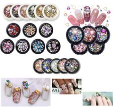 3D Nail Art Decoration Pots Mixed Charms Gems Flowers 30 Designs/Colours - 1369