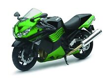New Ray Toys 1:12 Scale Die Cast Motorcycle Replica Kawasaki ZX-14 Green 2011