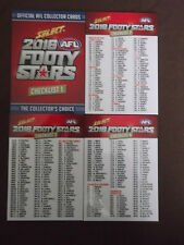 2016  SELECT  FOOTY  STARS  AFL  CARDS   CHECKLIST  SET  (4)