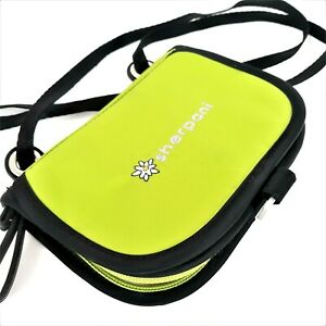Sherpani Crossbody Bag Wallet Flap and Zip-Around Multi-Pocket Lime Green Black