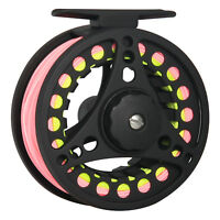 Fly Fishing Reel Combo 1/2 3/4 5/6 7/8WT Aluminum Fly Reel &Line Backing Leader