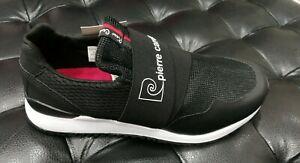 Chaussures Hommes Pierre Cardin Baskets Sportive Noir Bande à Enfiler pc812 Neuf