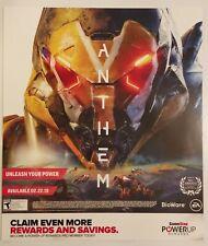Anthem Promo Gamestop Poster. Rare.