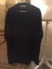 Tommy Bahama Button Up Shirt Size XLARGE 100% Silk Men's Color Black