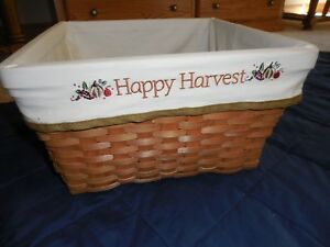 """New Large Square Basket Fall Halloween Harvest Changeable Liners 13.6""""X13.6X7.5"""