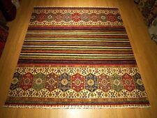 8 x 8.4 High Quality Handmade Veggie Dye Fine Wool Afghan Caucasian Shiravan Rug