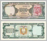Ecuador 1000 Sucres 1980 p120b unz.