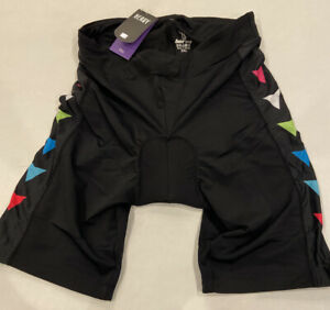 Beroy Women's Bike Shorts with 3D Gel Padded Black Color Arrows, Size 3XL - NWT