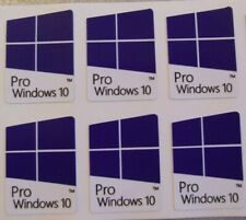6 x Windows 10 Pro Sticker Decal PC Laptop Notebook - 22mm x 16mm - Made in USA