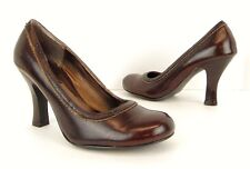 Unlisted Kenneth Cole Brown Faux Leather Round Toe Heels Pumps Shoes 8 M  (S139)