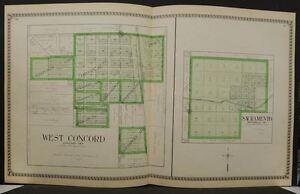 Minnesota Dodge County Map West Concord Sacramento  1937   Double Page  J11#97