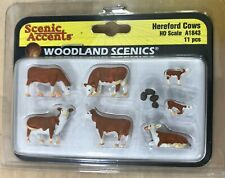 Ho Scale Woodland Scenics - Hereford Cows