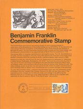 #7614 13c Benjamin Franklin Stamp #1690 Souvenir Page