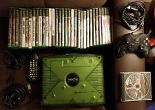 """Xbox Original Console Halo Special Edition Green & 34 Games Bundle """"Excellent"""""""