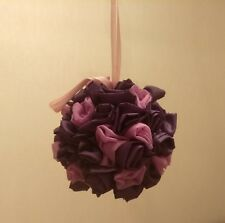 Handmade wedding decore Satin Rose Flower Bouquet Bridal Ball