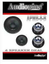 """4 piezas Audiopipe Apmb - 8B 8"""" 500 Vatios Alto Parlantes Medios Rango Completo Dj Car Audio"""