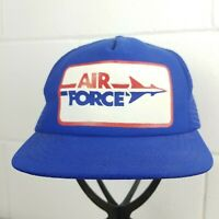 Vintage Air Force Trucker Hat Baseball Cap Red White Blue Snapback Mesh