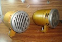 #2 Two 1970's Electric 115V Siren Horn Air-Raid Siren Police Alarm Fire Loud++