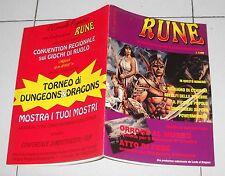 RUNE Anno 1 n. 2 del 1991 Scenario Dungeons & Dragons Il Richiamo di Cthulhu D&D